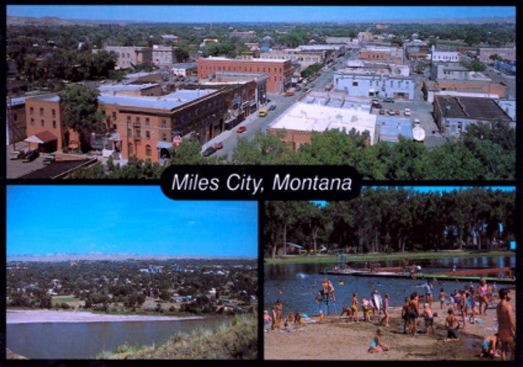 Postcard of Miles City, Montana