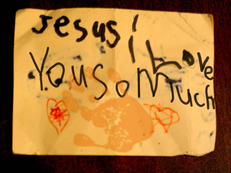 Jesus! Loves you so much, drawn by child