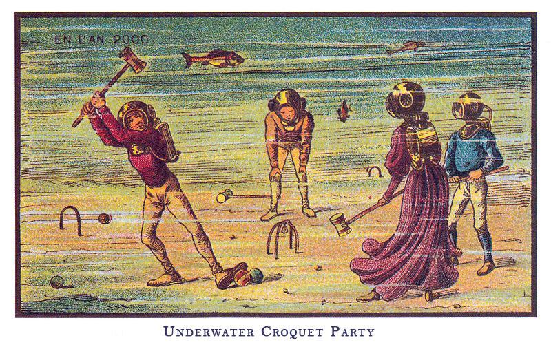 Postcard: Underwater Croquet Party