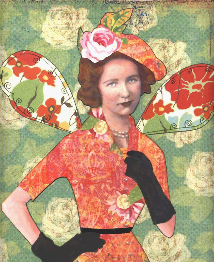 Woman art collage