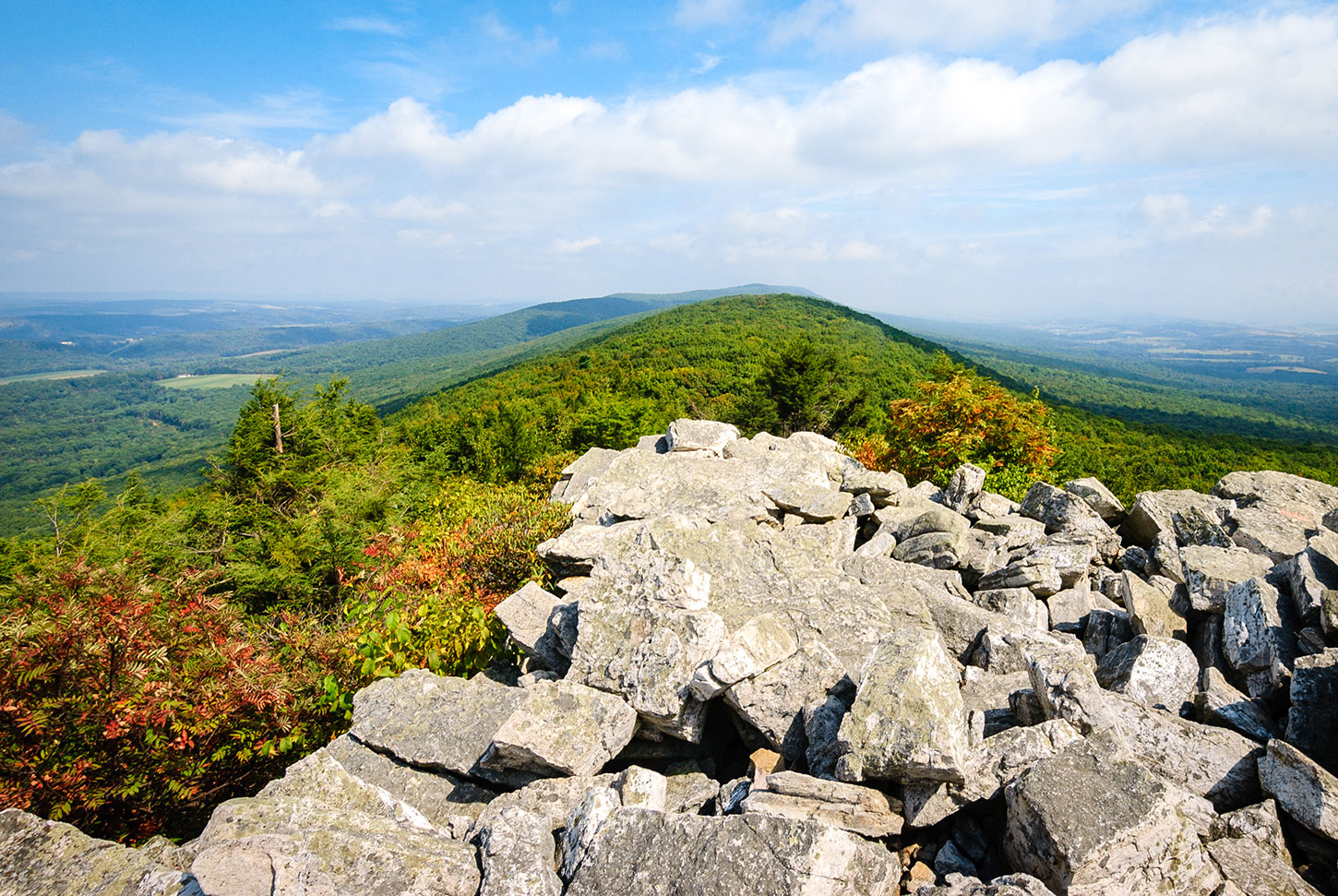 The view from atop Hawk Mountain, Pennsylvania