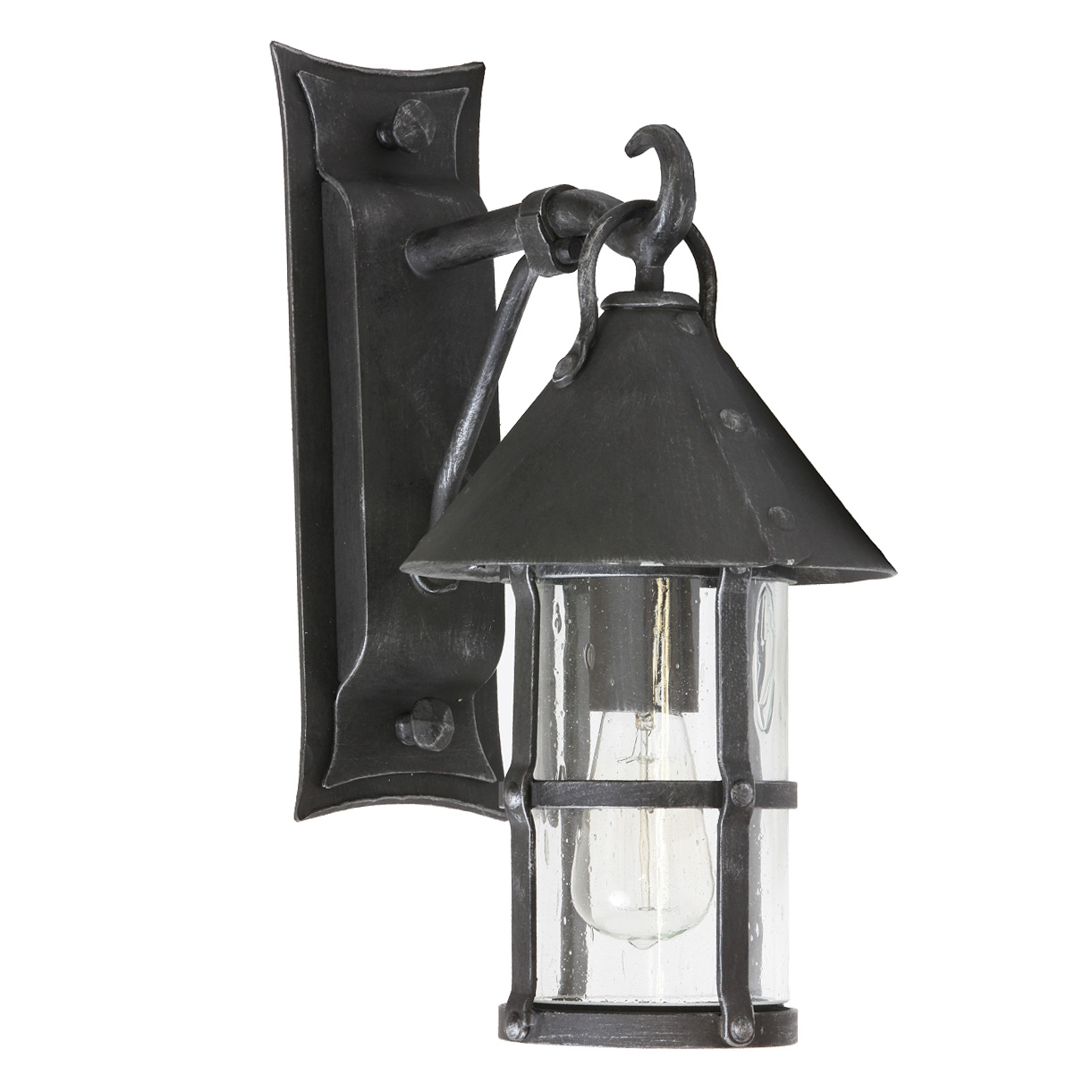 medieval wrought iron outdoor sconce wl