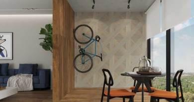 Formas geométricas deixam ambientes modernos e descolados