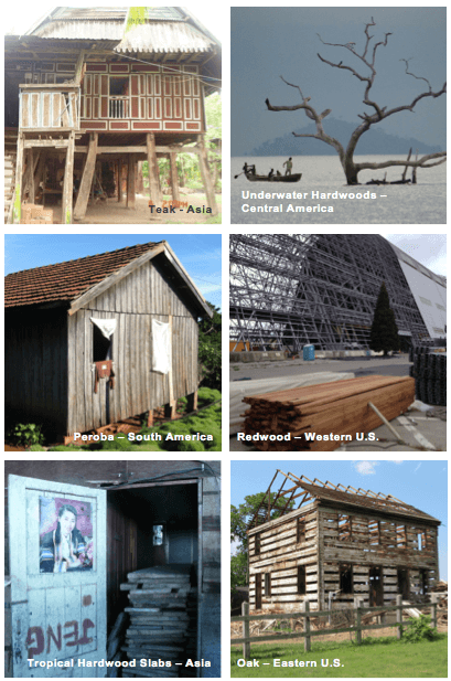 Where reclaimed wood is sourced from