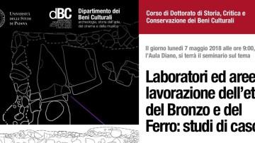 Il laboratorio ceramico della Terramara presentato a un seminario all'Università di Padova