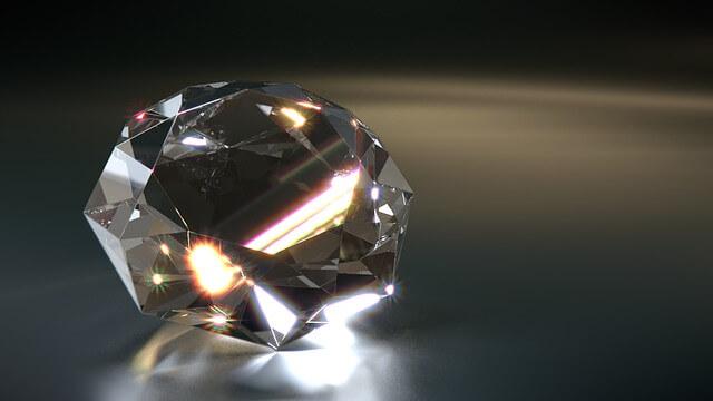 diamante hecho con cenizas