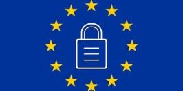 bandera europea con candado