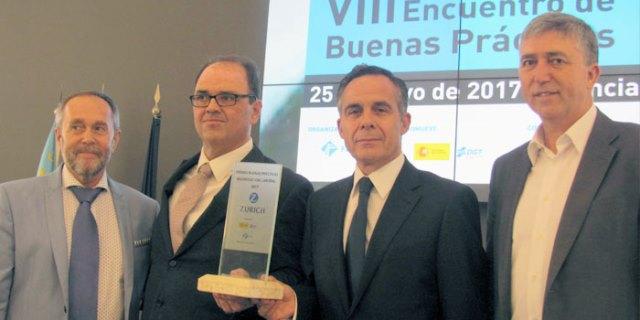 Entrega del premio a Zurich Seguros por su labor en Seguridad Vial en las empresas