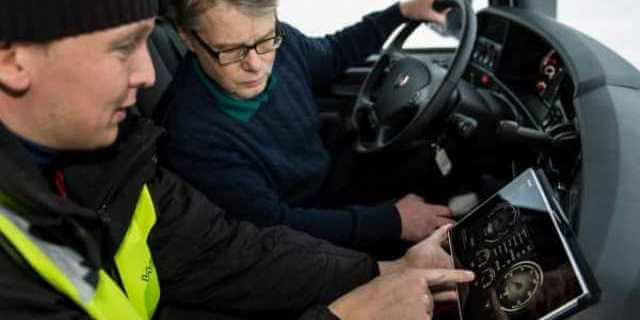Conductores profesionales de camiones.