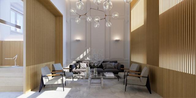 Interior de Paseo Recoletos 5, edificio de oficinas recientemente adquirido por MGS Seguros