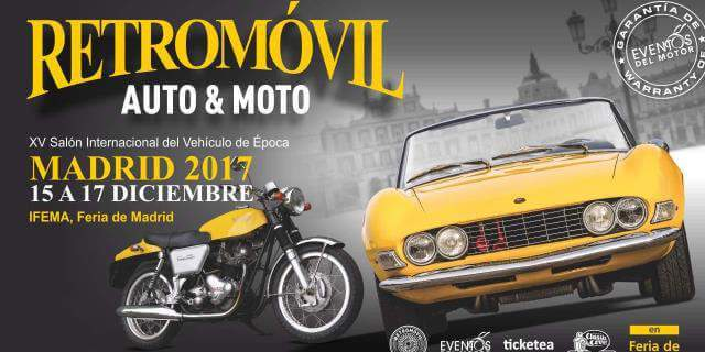 Cartel promocional de Retromovil Madrid 2017