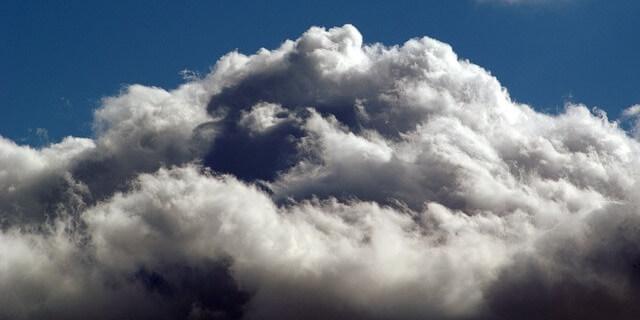 nubes como las de la borrasca Ana