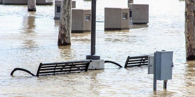 inundación causada por el cambio climático