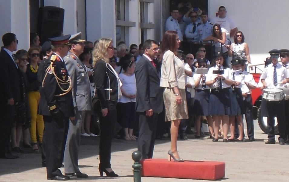 Cerimónia de inauguração da ampliação do quartel - maio de 2015