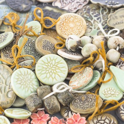 New beads and pendants hot out of the kiln!