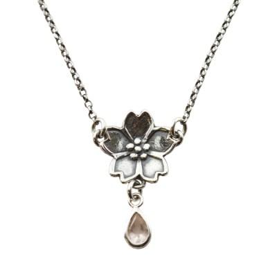 Sakura Cherry Blossoms Necklace-Terra Rustica Jewelry