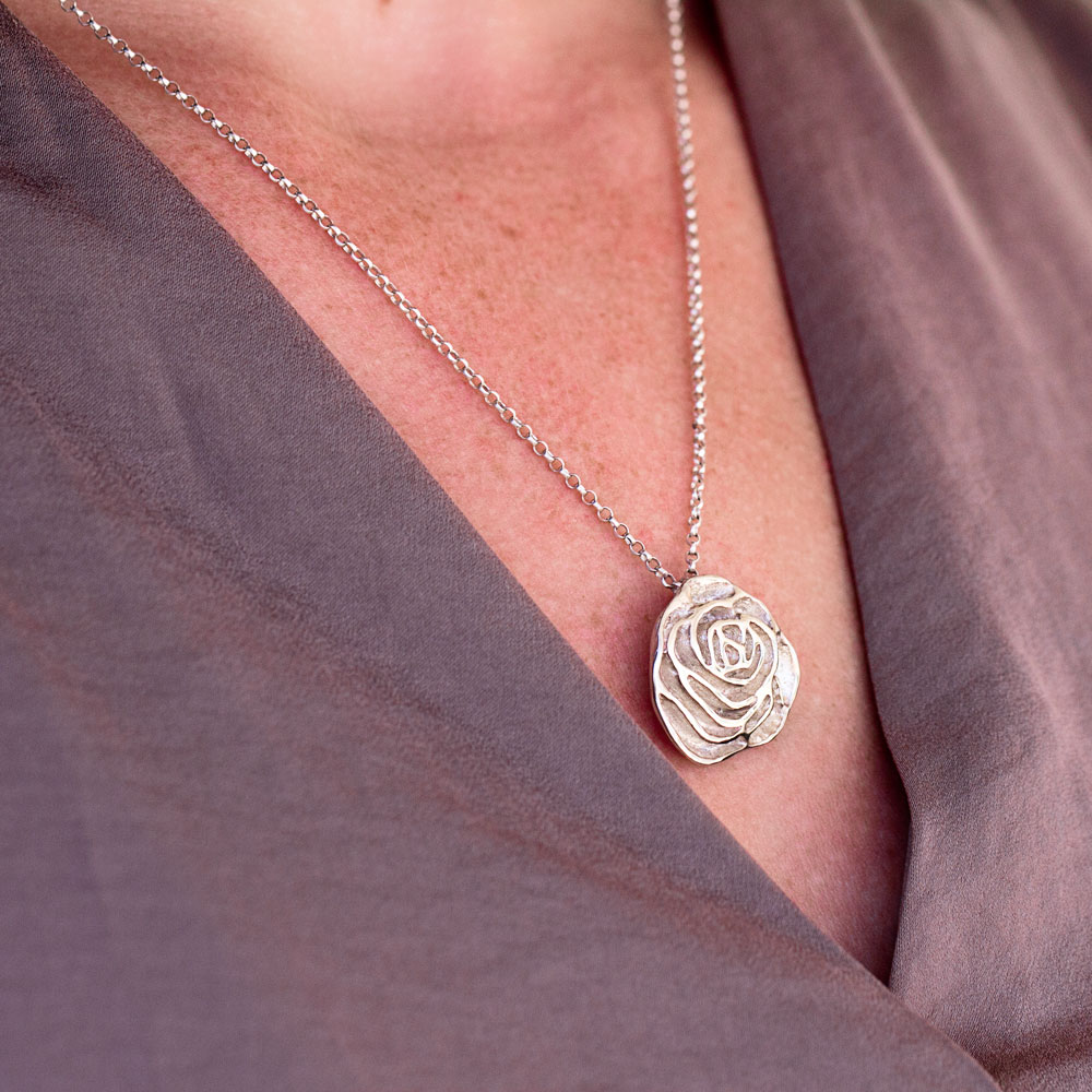 My Sweet Rose Flower Necklace-Terra Rustica Jewelry