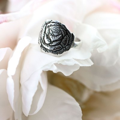 Peony Flower Ring-Terra Rustica Jewelry