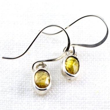 Rose Cut Tourmaline Earrings-Terra Rustica Jewelry