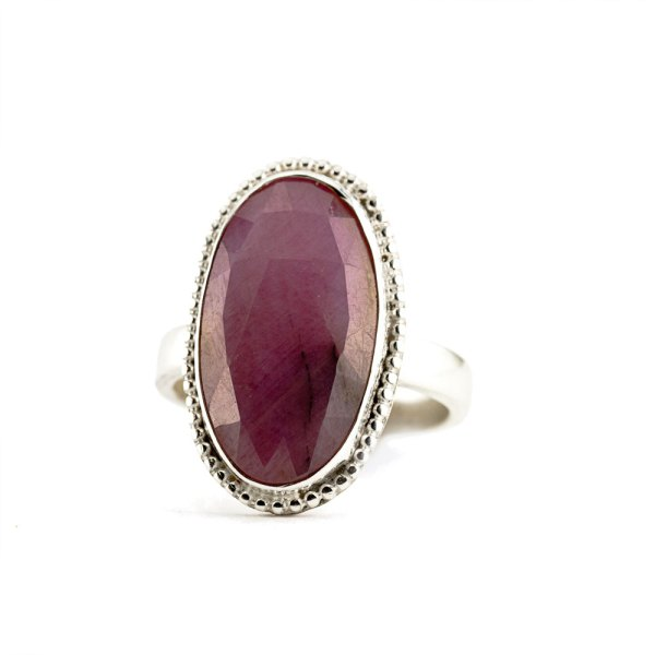 Cotton Candy Rose Cut Sapphire Ring-Terra Rustica Jewelry