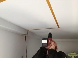 Drilling holes for Fan-Tastic Vent installation