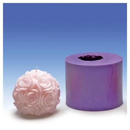 moule en silicone boule roses o 90 mm
