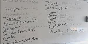 …répartis entre les 32 élèves dans la classe en équipe de 2 ou 3 selon les thèmes et l'intérêt de chacun