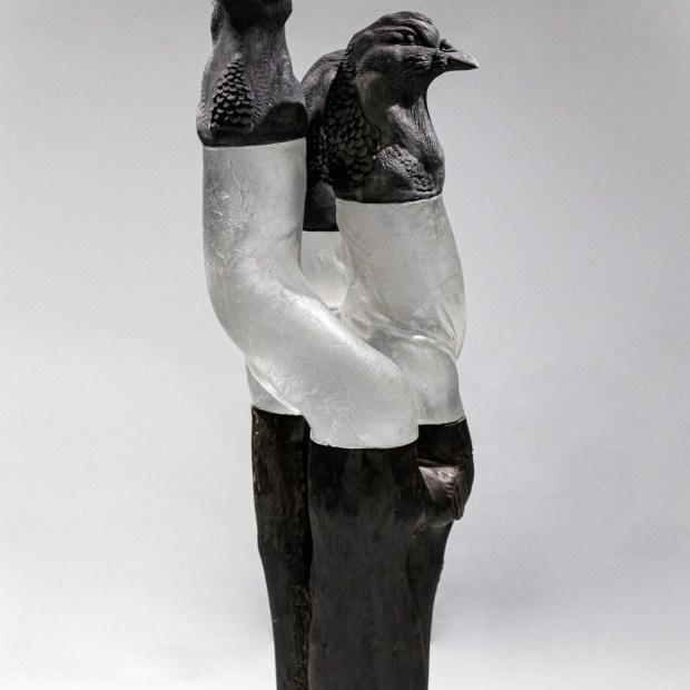 pate de verre 2   Nathalie Charrié   birdy guys   Produit   1.250,00€   6361   Pâte de verre, grès enfumé, bois - 2020   Nathalie Charrié - Artiste céramiste   Terre et Terres   10 décembre 2020
