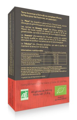 HForce bio – 40 gélules – Synergie Maca Homme bio