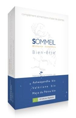 Sommeil bio - 40 gélules – 3 plantes adaptogènes à l'efficacité bien connue pour trouver le sommeil