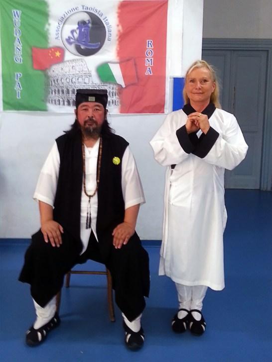 Grand Maître You Xuan De et Catherine Bousquet à Rome en septembre 2016