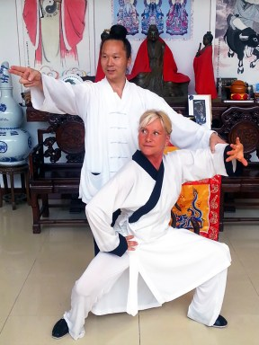 Maître Yuan Li Min et Catherine Bousquet