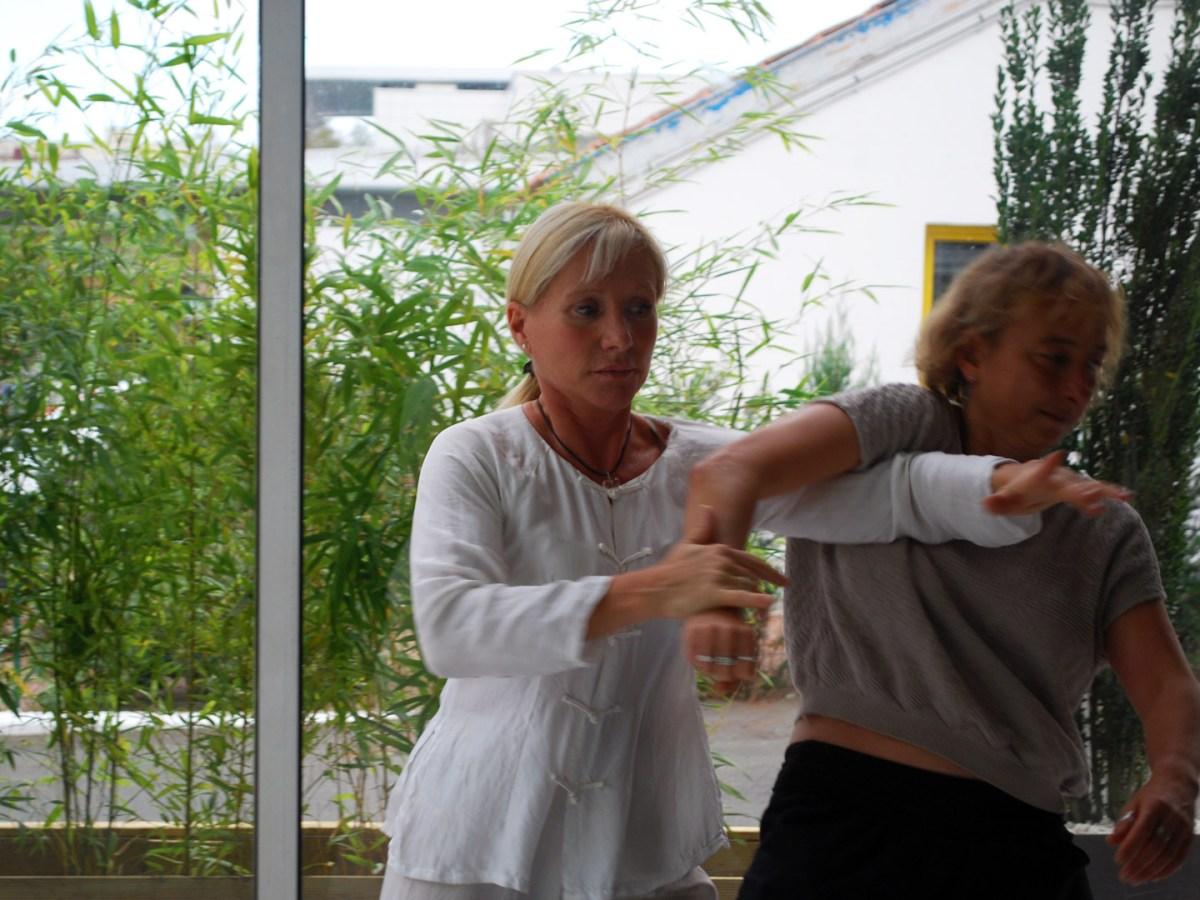 Application martiale du Taiji Quan à Terre d'Asie avec Catherine-Isaure Bousquet