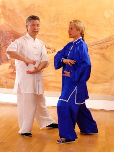 Maître Zhang Kunlin et Catherine Bousquet