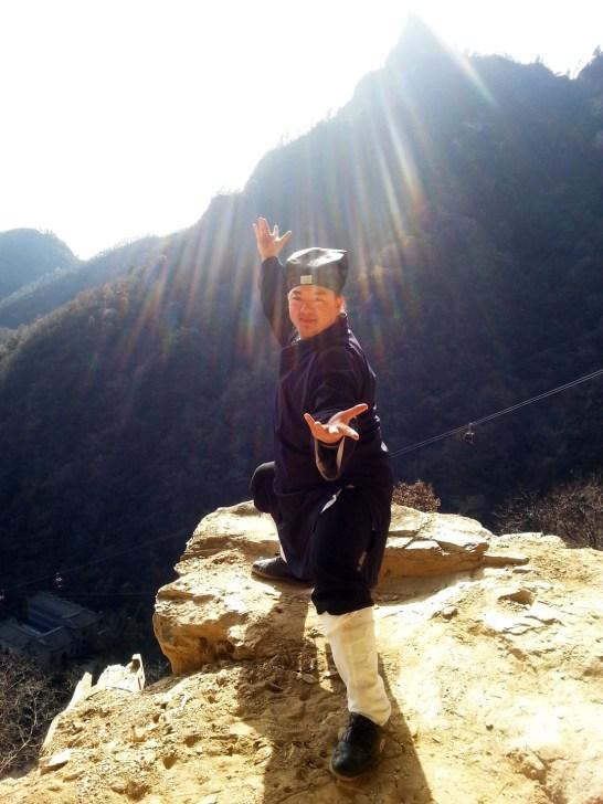 Maître Chen Li Sheng sur le Mont Wudang, décembre 2015