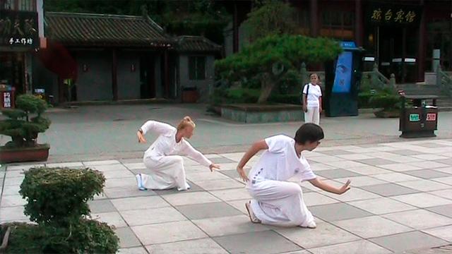 Pratique du Xing Yi Quan dans la région du Wudang en Chine