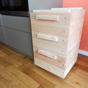 lombricomposteur d'appartement - boite à terre 3 plateaux - cuisine