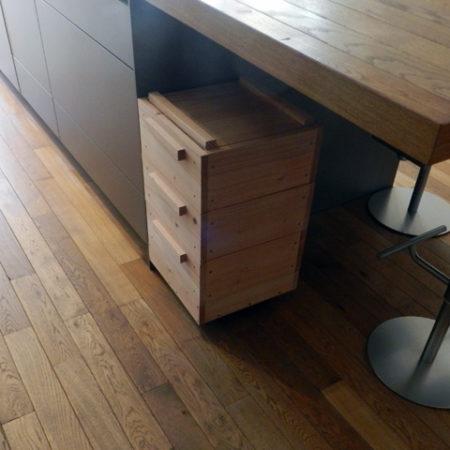 lombricomposteur d'appartement - boite à terre 3 plateaux - cuisine sous table