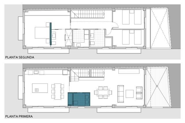 convertir un espacio vacío en vivienda dúplex.planos