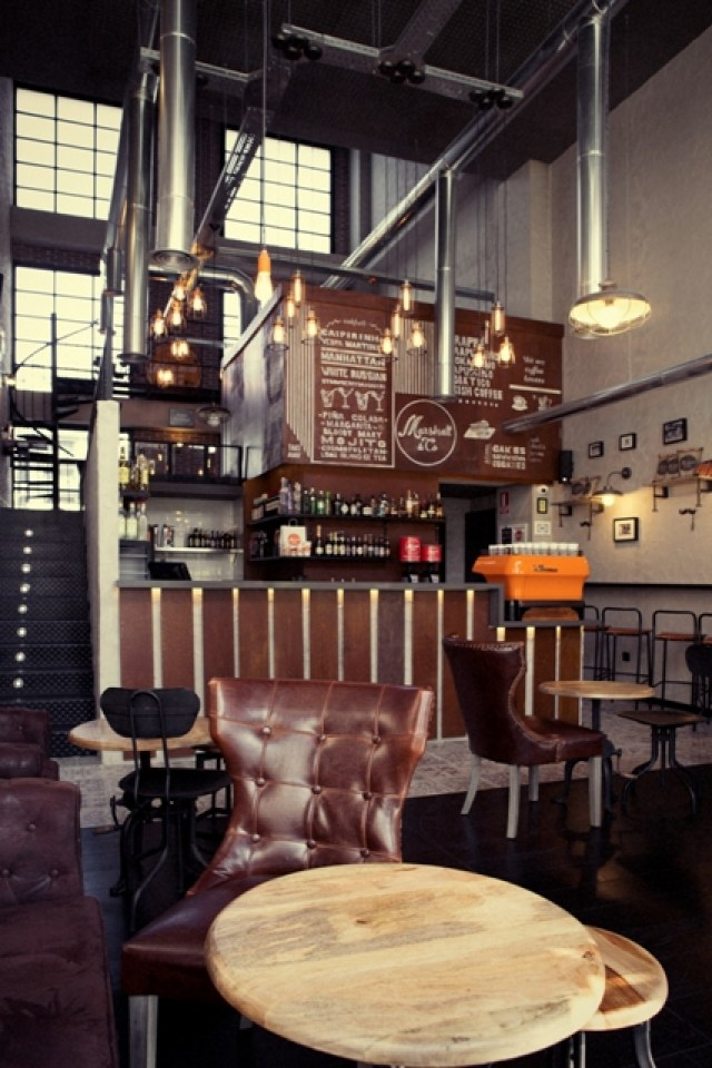 decoración bar sala Marshall & Co