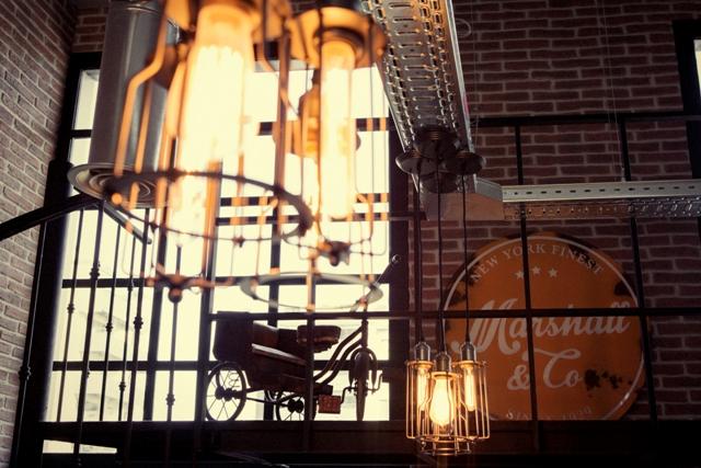 Iluminación industrial de Marshall & Co
