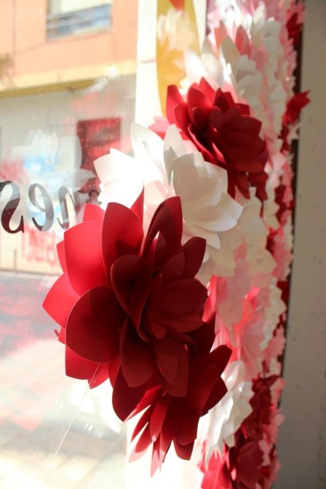 origami en las fallas. empaperart detalle flor papel