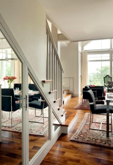 como decorar espacios pequeños. escalera
