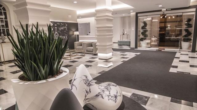 diseño de interiores hotel Monte Triana. entrada