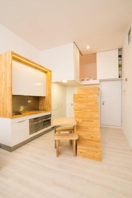 decoración de cocinas pequeñas en lofts