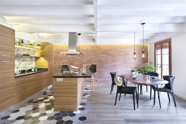 decoración de cocinas pequeñas abiertas al salón