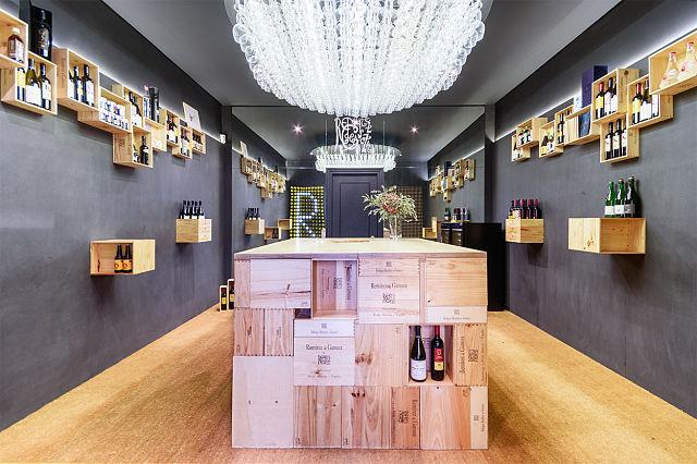 decoración de la tienda de vinos wine store