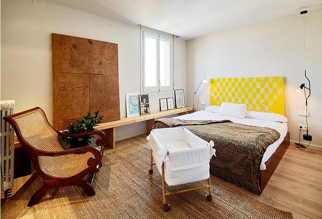 dormitorio principal al reformar una vivienda antigua