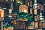 Lámparas del comedor del restaurante Lakasa