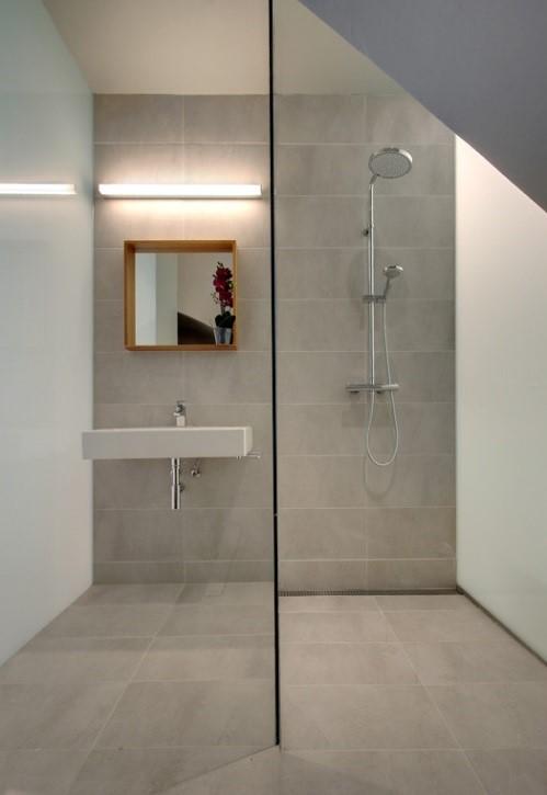 Baño de loft de diseño